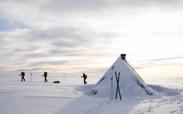 snowcovered hut